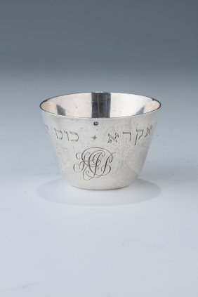 An Early Silver Kiddush Beaker. The Netherlands, C.