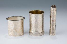 A Sterling Silver Havdalah Set By Oded Davidson.