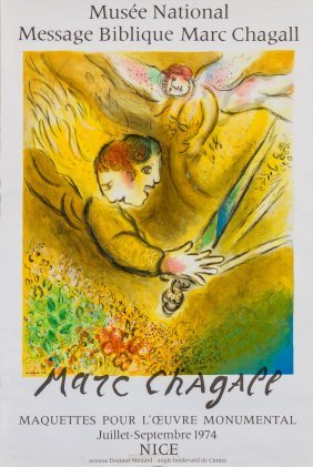 A Chagall Print: Musee National Message Biblique. 20""