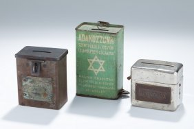 Three Charity Containers. Continental, C. 1900 – 1920.