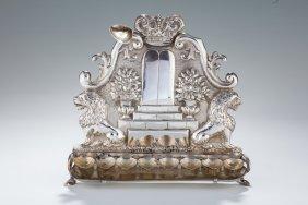 A Silver Chanukah Lamp. Vienna, 1880.