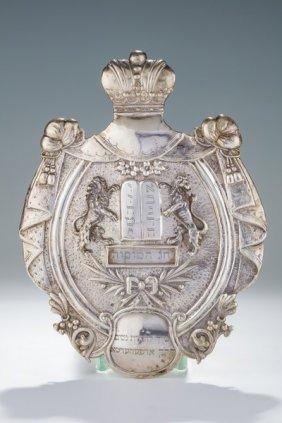 A Silver Torah Shield. Vienna, C.1880.