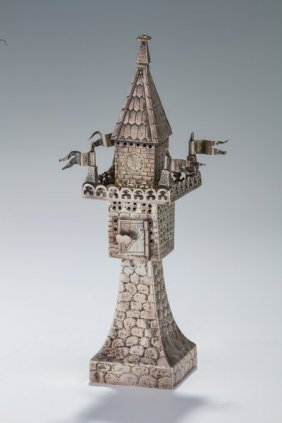 A Silver Spice Tower. Germany, C. 1880.