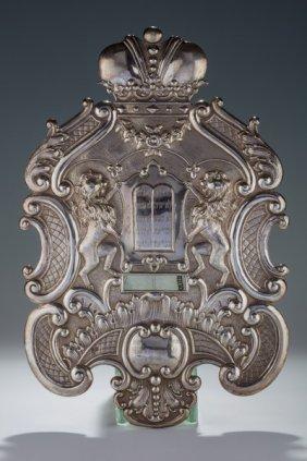 A Large Silver Torah Shield. Vienna, C. 1880.