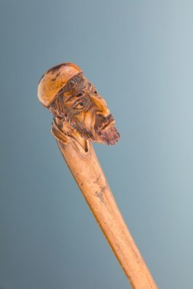 An Antisemitic Walking Stick. Probably Germany, C. 1880