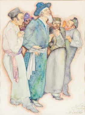 A Watercolor By Saul Raskin (1878 – 1966). American, C.