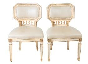 Set Of Eight Neoclassic Dining Chairs