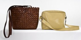 TWO BOTTEGA VENETA ASSORTED LEATHER SHOULDER BAGS