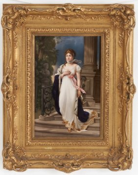 Kpm (royal Berlin) Porcelain Plaque Of Queen Louise Of