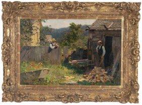 """Edward Henry Potthast: """"chopping Wood"""""""