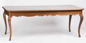 Louis Xv Provincial Fruitwood Dining Table