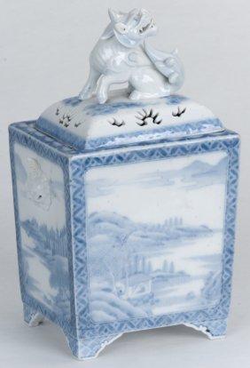 Japanese Blue & White Hirado Porcelain Koro