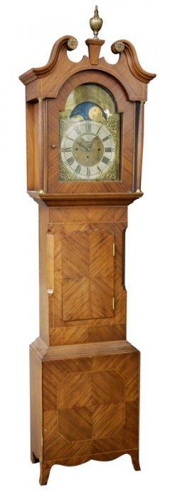 William Webster English Mahogany Tall Case Clock