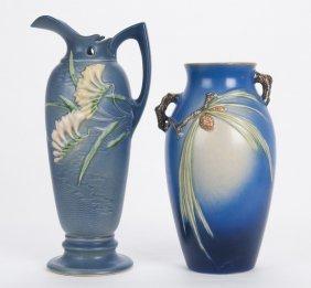 Roseville: Pottery Vase & Ewer