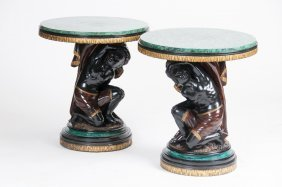 Pair Of Venetian Figural Occasional Tables