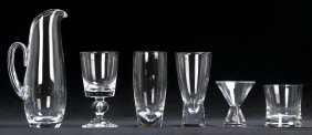 Steuben Molded Glass Partial Bar Service