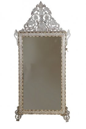 Syrian Bone & Mother Of Pearl Inlaid Mirror