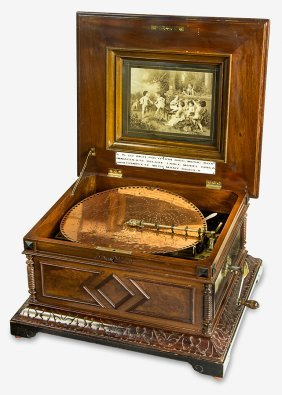 Polyphon 15½in-disc Table Music Box In Type 45 Style