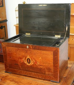 Large Swiss Music Box With Organ, No. 819