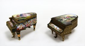 Two Small Grand Piano Jewellery Boxes