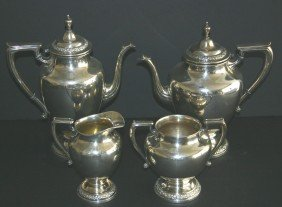 Four (4) Piece Wallace Sterling 365M Coffee And Tea