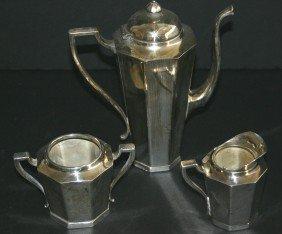 Three (3) Piece EPNS Touchmarks Silverplate Tea Set