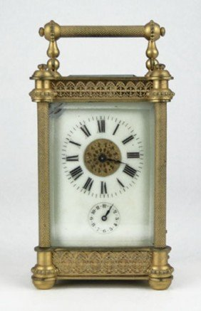 19th CEN FRENCH CARRIAGE CLOCK