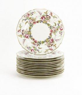 Set Of Twelve (12) Rosenthal Ivory Porcelain Plates