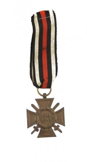 German Wwi Iron Cross Of Honor. Rubbing Or Else