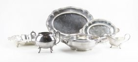 Lot Of Assorted Silver Plated Items. Mostly Dishes. Ple