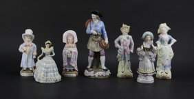 Lot Of Assorted Bisque And Porcelain Figures. Please Ex