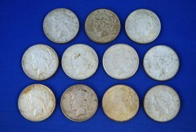 11 - Peace Silver Dollars, 1920`s