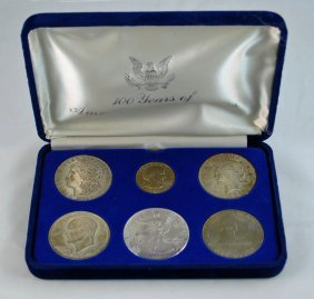 Silver Dollars Coin Set With Morgan, Peace, Eagle