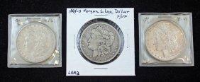 Group Of 3 1880-s & 1894-o Morgan Silver Dollars