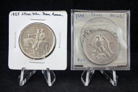 1934 Texas & 1925 Stone Mountain Silver Comm.