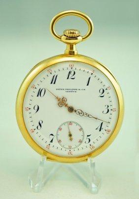 Patek Philippe 18k Yellow Gold Pocket Watch