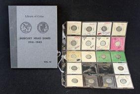 68 Mercury & Roosevelt Dimes 1916 - 1964
