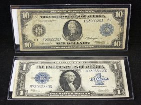 1923 Silver Certificate &1914 Federal Reserve Note