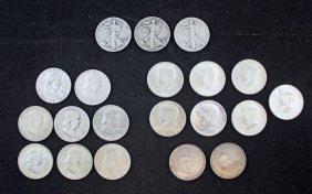 Roll Of 20 - 90% Silver U.s. Half Dollars