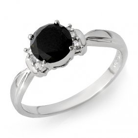 Natural 1.0 Ctw White & Black Diamond Ring 14K Gold
