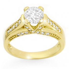 Natural 1.25 Ctw Diamond Ring 14K Yellow Gold