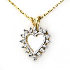 Natural 0.25 Ctw Diamond Pendant 14K Yellow Gold