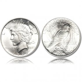 Peace Silver Dollar Coins - 1921 To 1935 - Extra Fine O