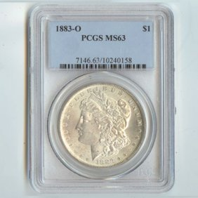 1883 Morgan Silver Dollar MS63 PCGS Certified - P1883