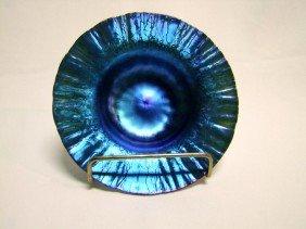 Blue Tiffany Onion Skin Flared Bowl