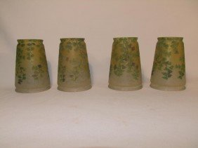 Set Of Four Teroma Signed Handel #3190 Shades