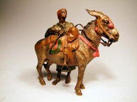 Bergmann Vienna Bronze Of Donkey And Rider