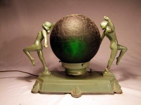 Unsigned Frankart Lamp With Nudes