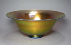 Steuben Gold 2851 Console Bowl