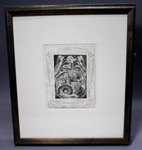 "William Blake's ""book Of Job"" - Plate #15"